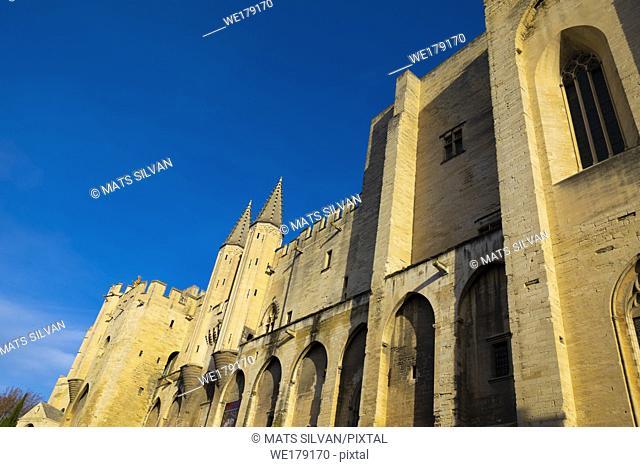 Palais des papes in Avignon, Provence Alpes Cote dâ. . Azur, France,