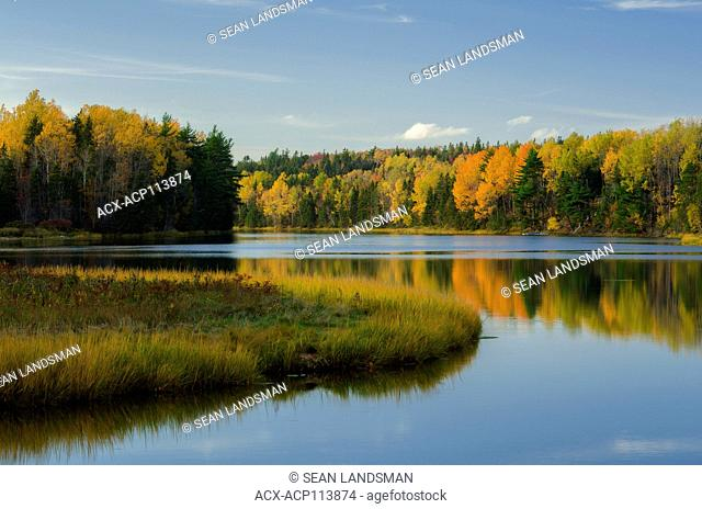 Trout River, Prince Edward Island, Canada, fall, colours, trees, reflections