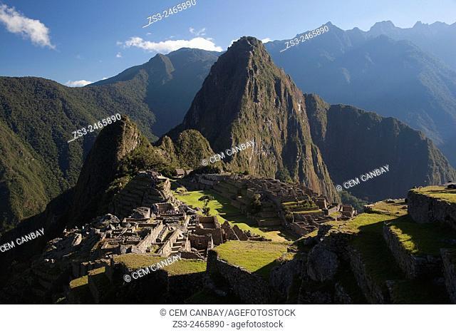 The sacred Inca site of Machu Picchu, Cuzco Region, Peru, South America