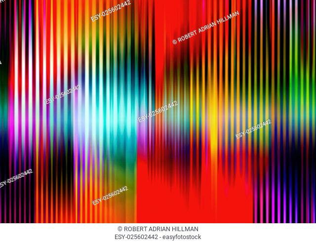 Editable vector abstract background of colorful stripes made using a single gradient mesh