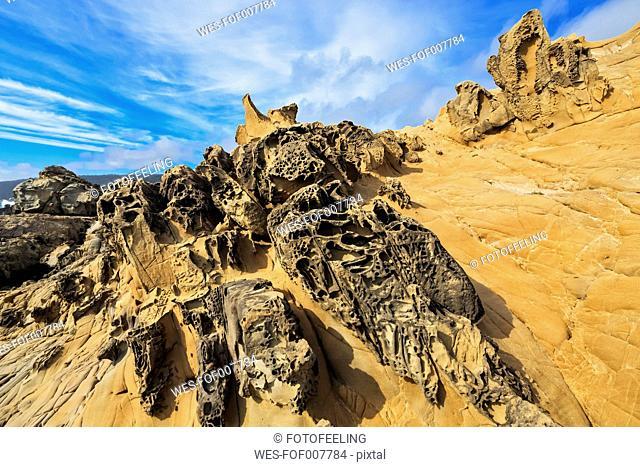 USA, California, alt Point State Park, Gerstel Cove, Sandstone Formation, Tafone