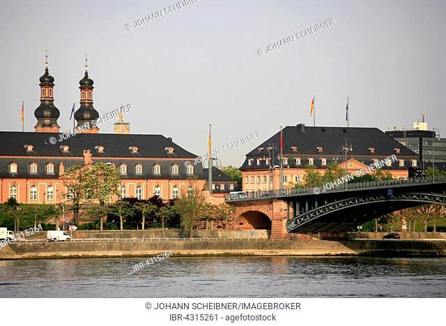 State Chancellery and Parliament, promenade, Mainz, Rhineland-Palatinate, Germany