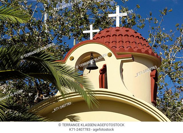 A small Greek Orthodox chapel in Piraeus, Greece