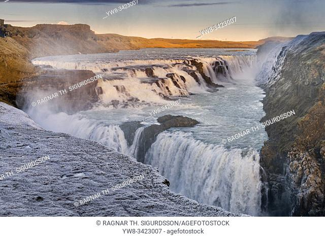 Gullfoss Waterfall in the winter, Iceland