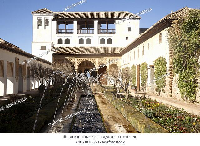 Many tourists visit La Alhambra in Granada. one of the most important monuments in the world
