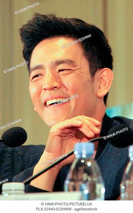 John Cho 07/14/2016 Star Trek Beyond Press Conference held at the Four Seasons Los Angeles at Beverly Hills in Los Angeles