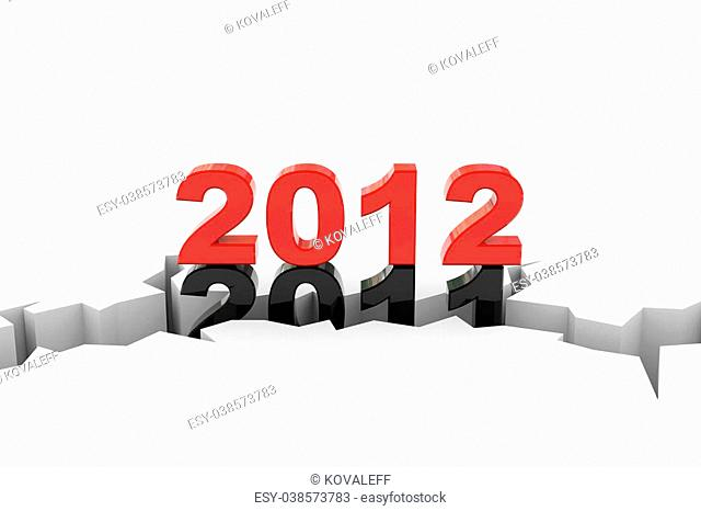 New year 2012. Computer generated image