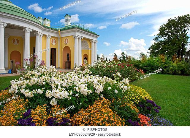 Cold Bath with Agate Rooms in Catherine park, Tsarskoye Selo (Pushkin), architect Charles Cameron, neighborhood of Saint-Petersburg, Russia