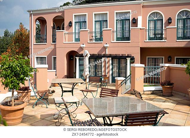 The Westcliff Hotel Johannesburg South Africa. Outside, garden and restaurant