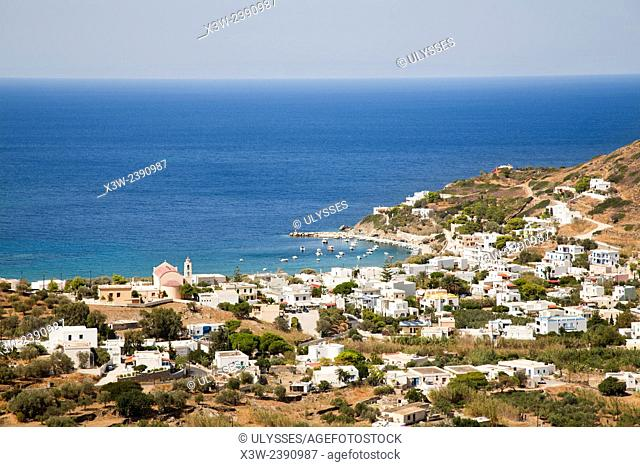 Kini bay and beach, Syros island, Cyclades, Aegean Sea, Greece, Europe