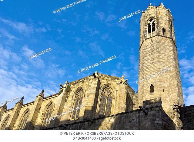 Capella de Santa Agueda, Chapel Santa Agada, St Agnes, Placa del Rei, Barri Gotic, Barcelona, Catalonia, Spain