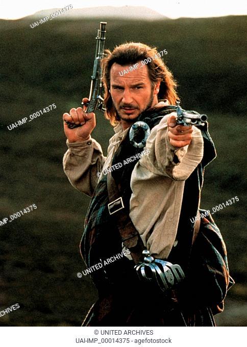 Rob Roy, (ROB ROY) USA 1995, Regie: Michael Caton-Jones, LIAM NEESON, Stichwort: Pistolen, Revolver, Schotte