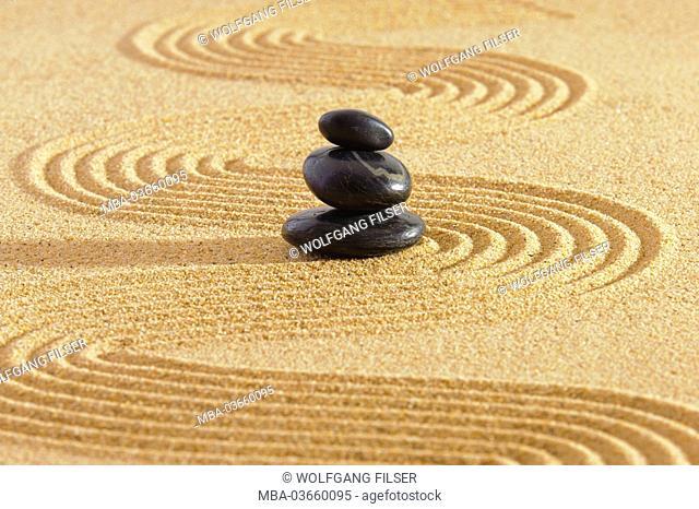 ZEN Garden, Sand, stones