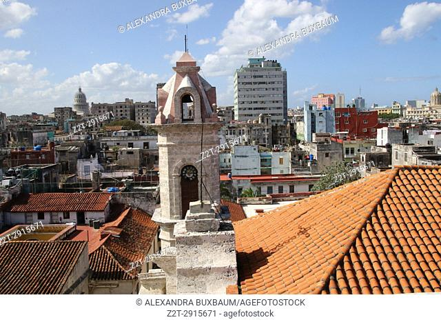 Cathedraldel la Hababa views in La Hababa Vieja, Havana, Cuba