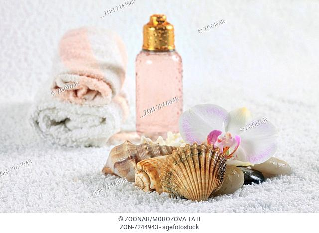Bottle with massage oil