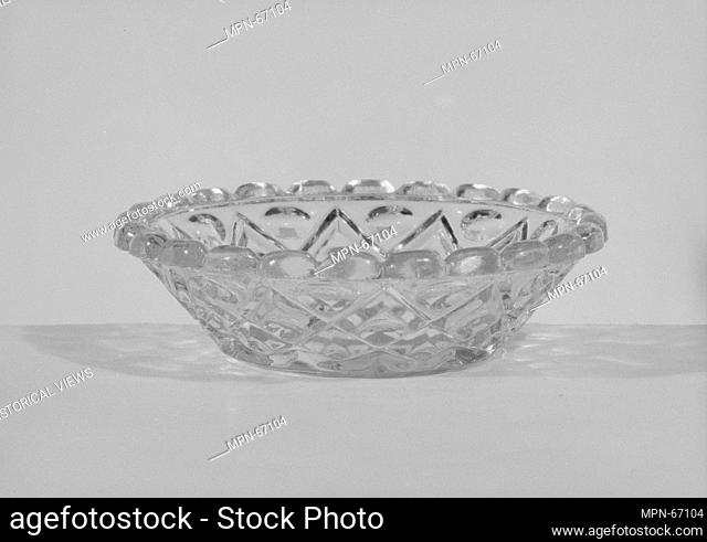 Honey dish. Date: 1850-60; Geography: Probably made in Pittsburgh, Pennsylvania, United States; Culture: American; Medium: Pressed glass
