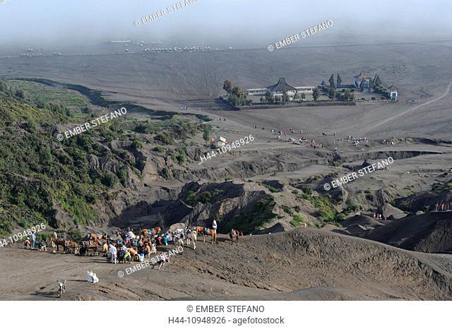 Asia, Indonesia, Java, Bromo Tengger Semeru, Bromo, Tengger, Semeru, sand sea, desert, nature, national park, rider, tourism