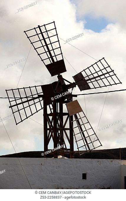 Old windmill in Fuerteventura, Canary Islands, Spain, Europe