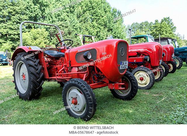 Bad König, Hessen, Germany, Güldner Ticino tractor at the classic festival, performance 20 HP