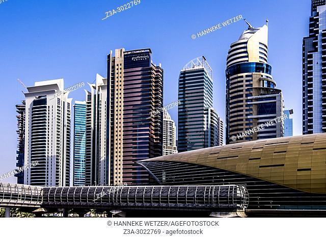 Skyline of Dubai Marina, Dubai, UAE. of Dubai Marina, Dubai, UAE