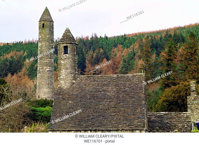 Monastic site at Glendalough, County Wicklow, Ireland