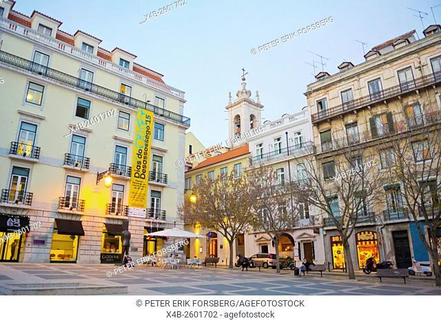 Largo de Camões, Chiado, Lisbon, Portugal