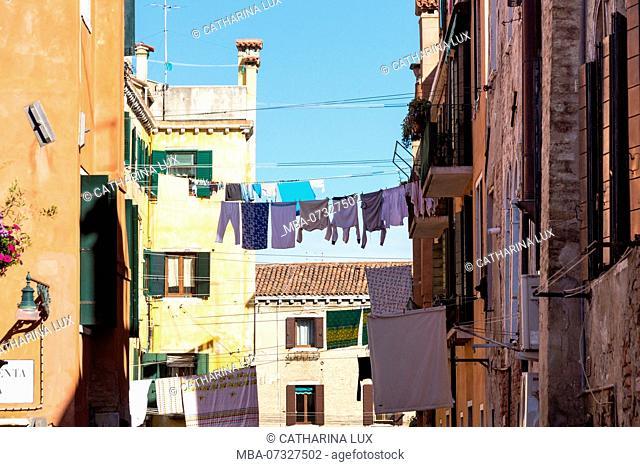 Venice, Cannaregio, clotheslines