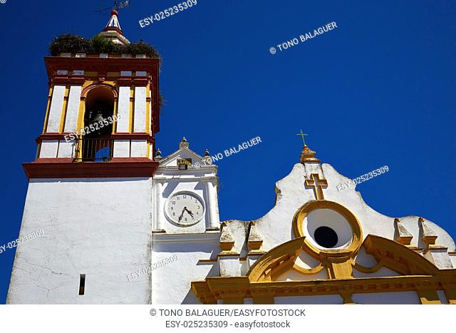 Castilblanco church by via de la Plata way of Spain in Andalusia