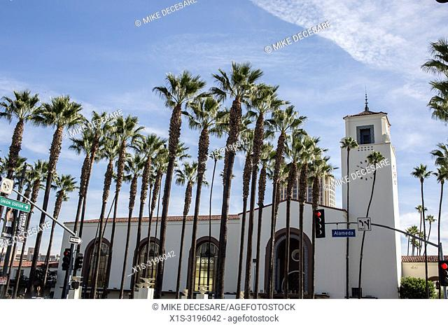 Union Station in Los Angeles was originally built in 1939 and a symbol of the great days of train travel