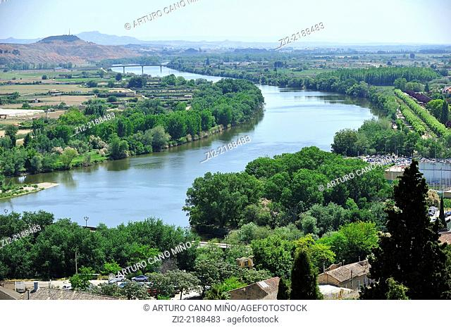 River Ebro. Tudela, Navarra, Spain