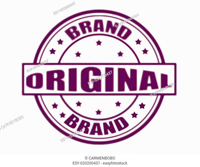 Stamp with text original brand inside, vector illustration