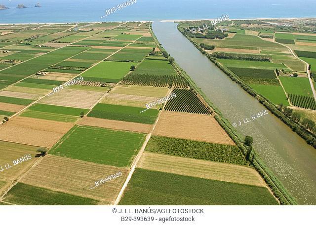 Ter river estuary. Girona Province. Catalonia. Spain