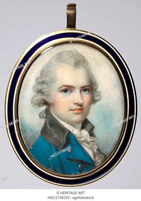 Portrait of a Man, c. 1790. Creator: Richard Cosway (British, 1742-1821)