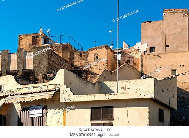 Morocco, Fez, houses, typical facades
