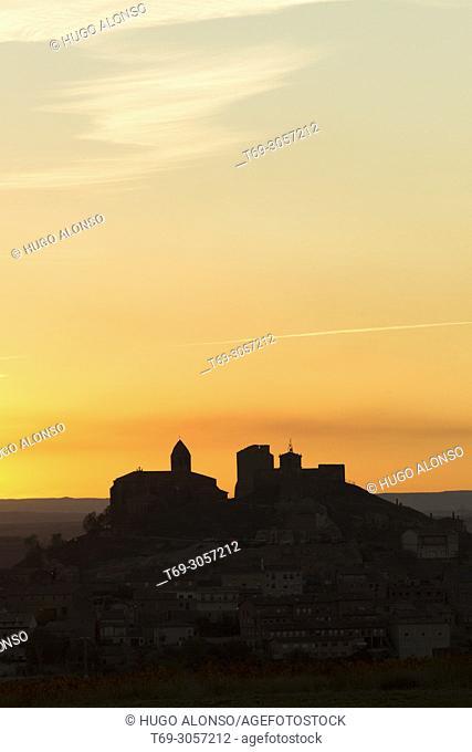 Sunset in San Vicente de la Sonsierra. La Rioja. Spain