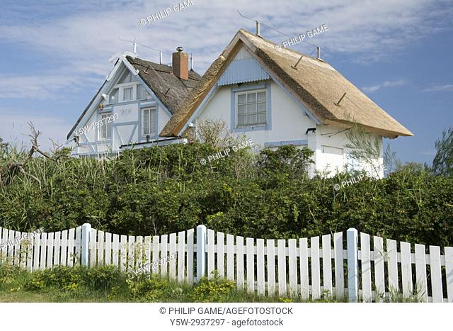 Holiday cottage at Graswarder nature conservation reserve on the Baltic coast at Heiligenhafen, Holstein, Germany