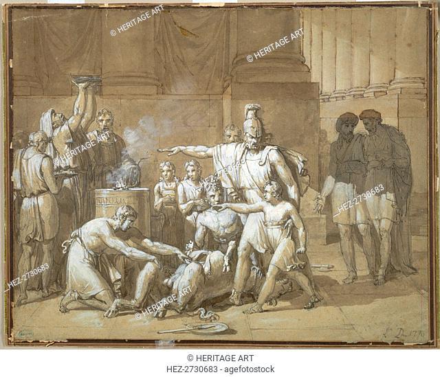 Hannibal Swearing Eternal Enmity toward Rome, c. 1808. Creator: Unknown