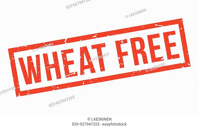 Wheat Free rubber stamp on white. Print, impress, overprint