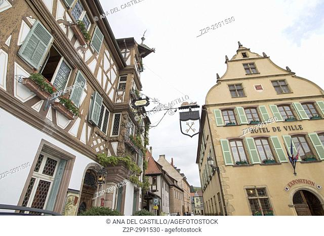 Turckheim picturesque village in Alsace France on May 14, 2016