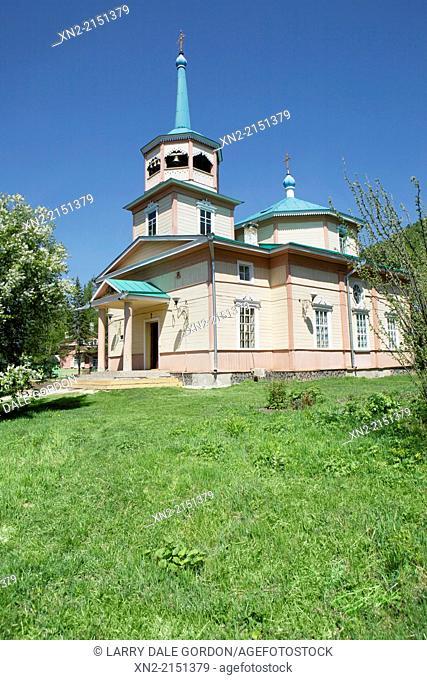 Russian Orthodox Church, Listvyanka, Irkutsk Oblast, Siberia, Russia