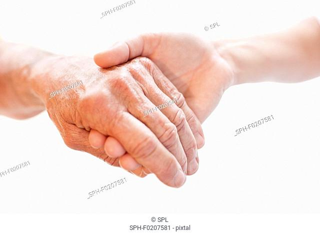 Person holding another's hand