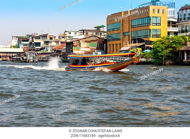 In Bangkok, the Chao Phraya is a major transportation artery for a network of river buses, cross-river ferries, and water taxis