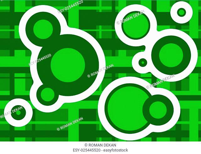 Geometric Texture Circles - Background Illustration, Vector