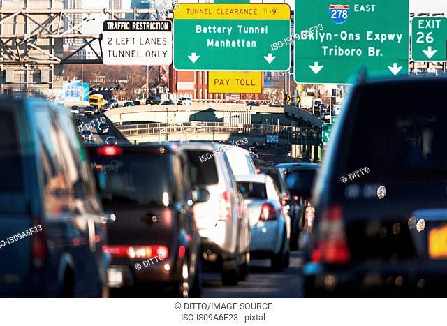 Traffic congestion New York City, USA