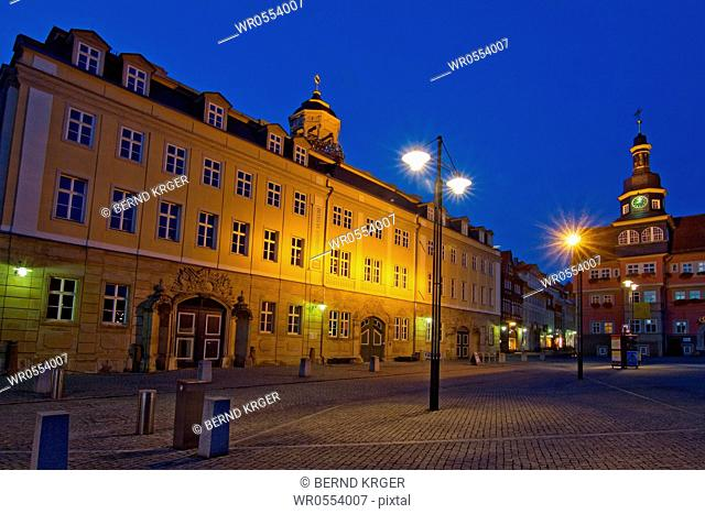City of Eisenach at night