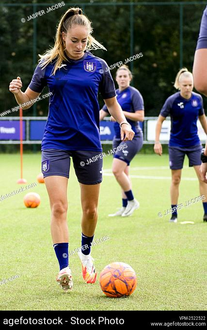 Anderlecht new player Tessa Wullaert pictured in action during a training session of RSC Anderlecht Women, Tuesday 28 July 2020 in Brussels