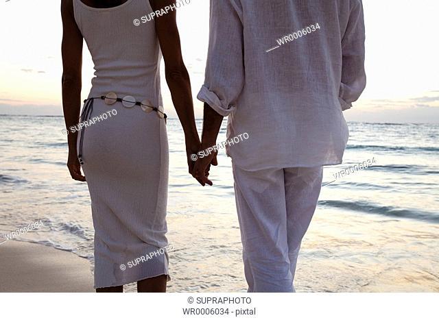 Couple beach holidays