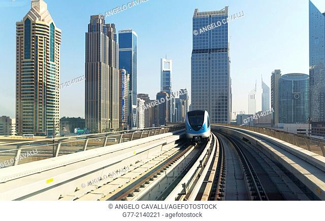 Dubai's Metro, Dubai, United Arab Emirates (UAE)