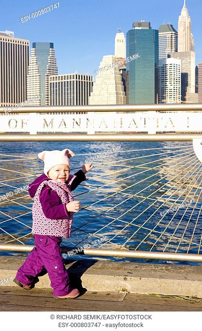 little girl at Manhattan, New York City, USA
