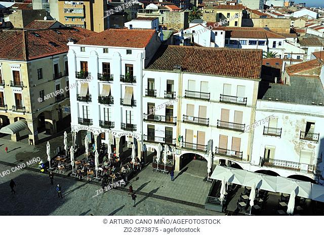 The Main Square. Caceres city, Spain